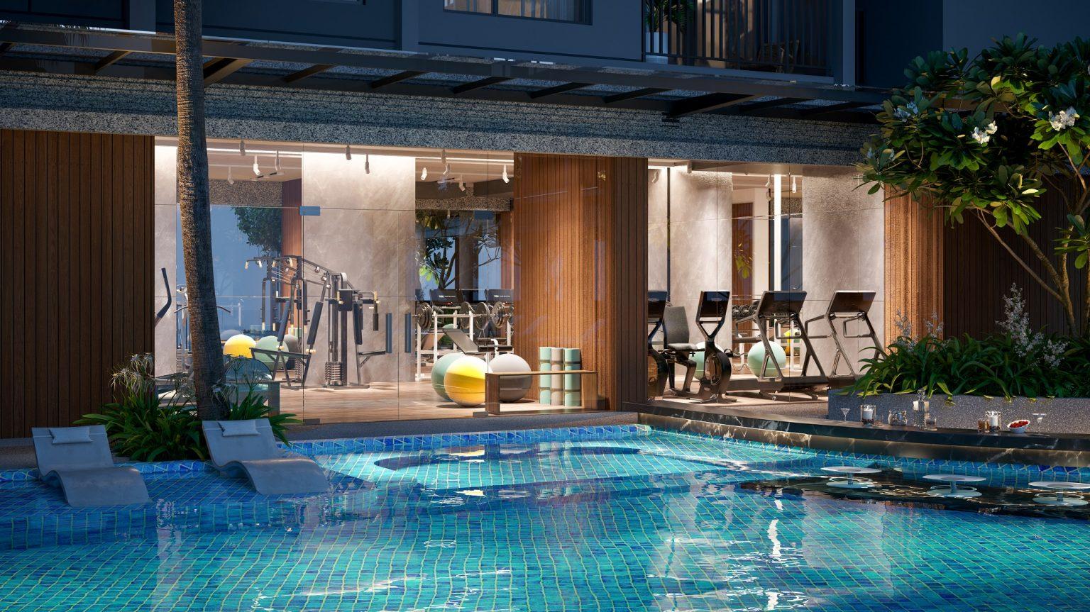 hồ bơi dự án opal cityview